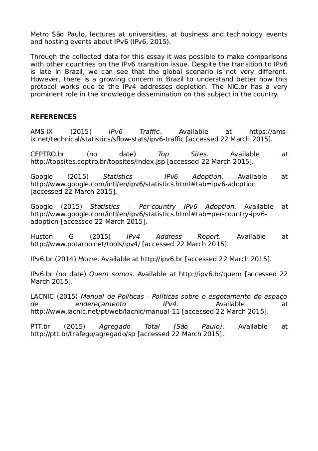 Essay Paper on IPv6