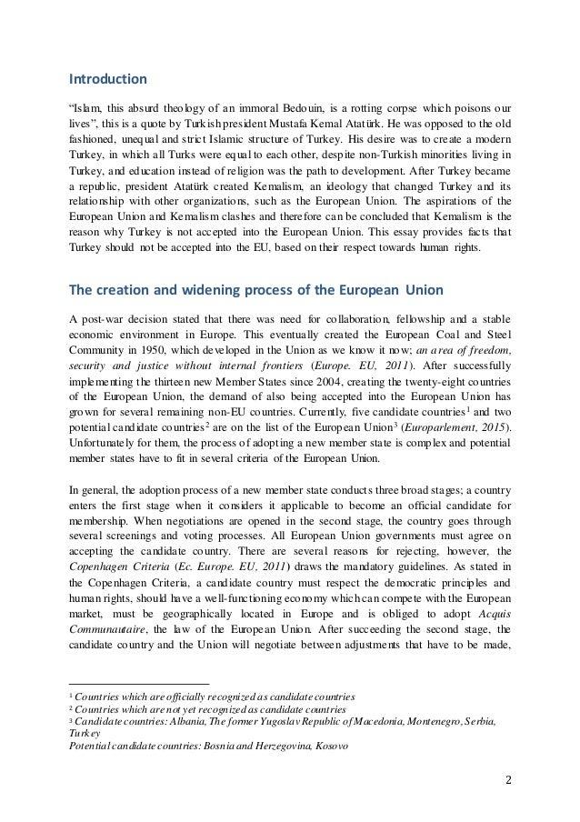 European union and turkey essay
