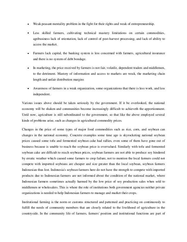 Contoh Essay Pertanian Bahasa Inggris