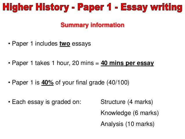 higher history essay layout instructions