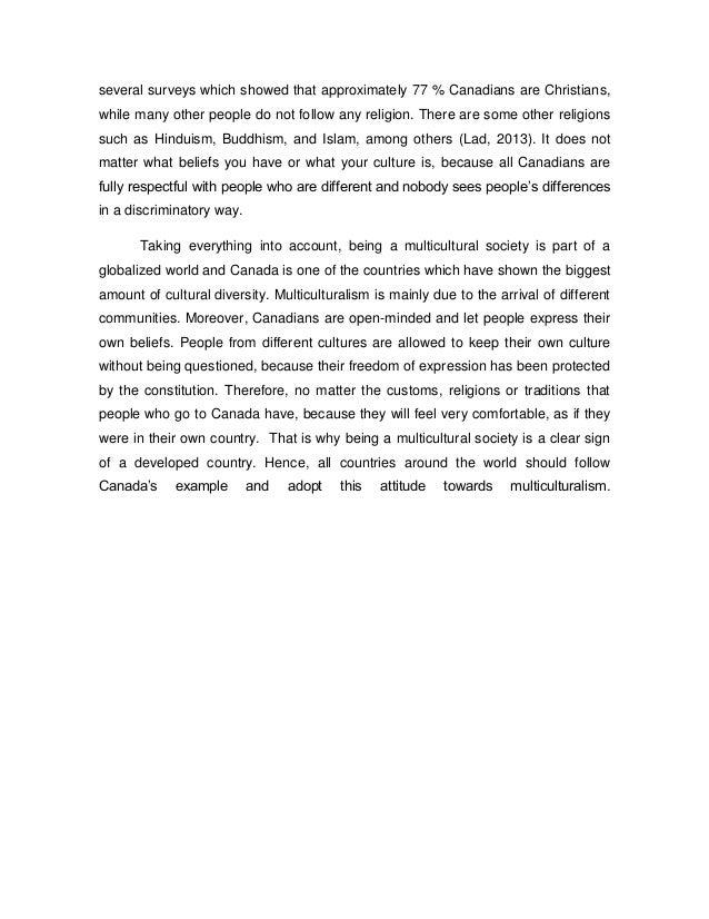 Multicultural essay