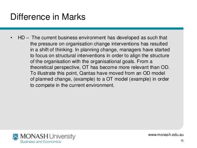 Organizational change essay