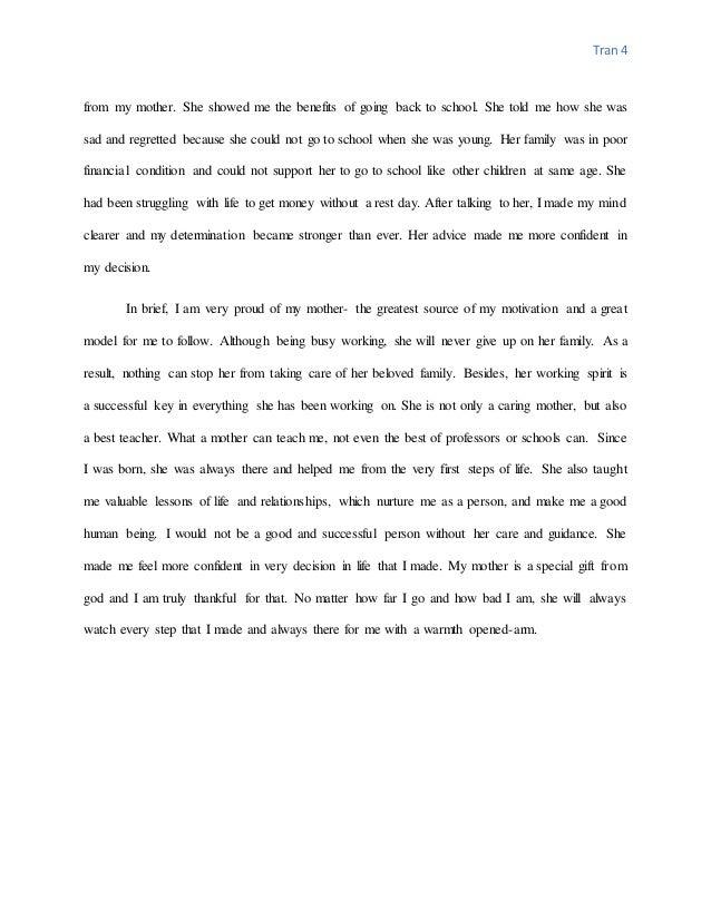 Essay of mom