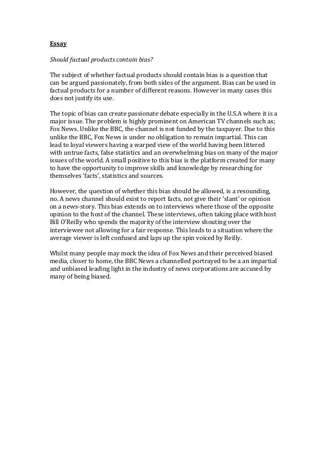 bias essay