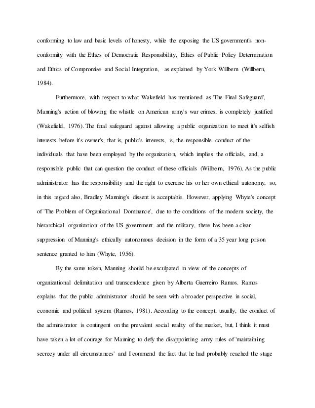 Reference Page For Essay Essay On Bradley Manning  Conforming Too Much Homework Essay also Essay On Wild Life Conservation Essay Honesty Honesty Is The Best Policy Essay In Punjabi Essay On  College Essay Sample