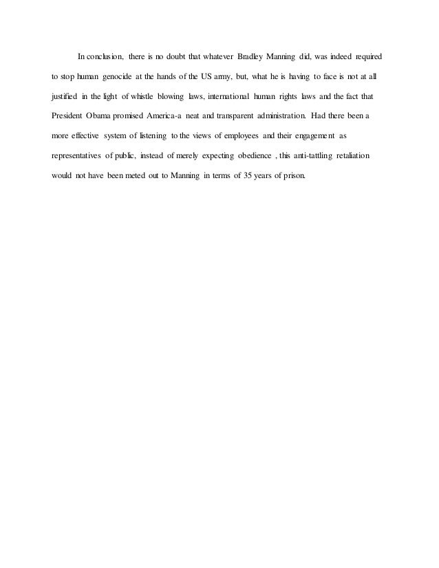 essay on bradley manning 9