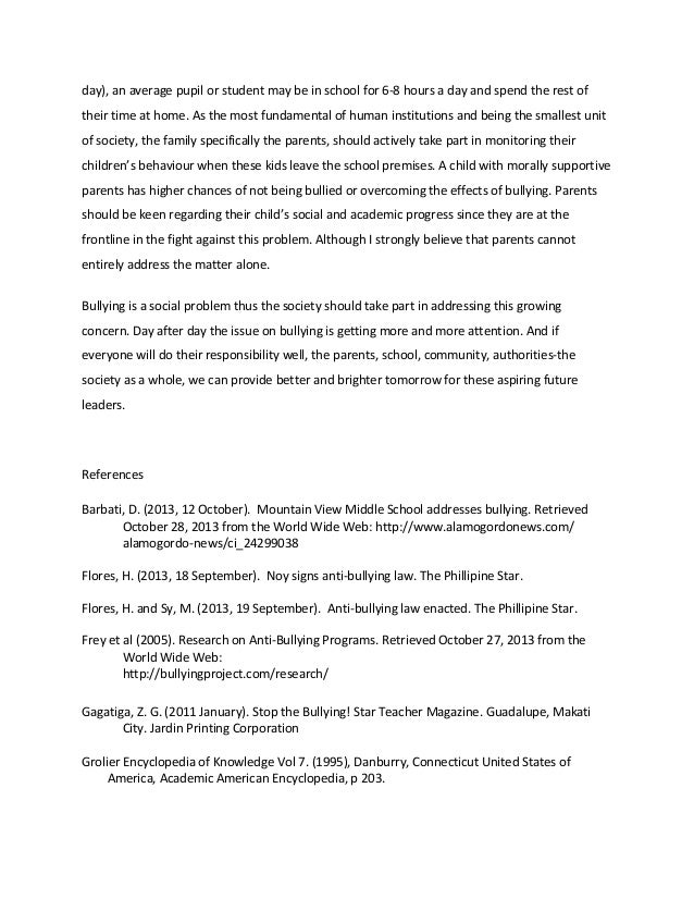 bullying research paper outline Daly quinn mrs eicher english 2 6 january 2012 bullying in schools bullying should be a crime it is very cruel and bullying in schools research paper older age bullying prevention younger age bullying bullying in schools research paper daly quinn mrs eicher english 2.