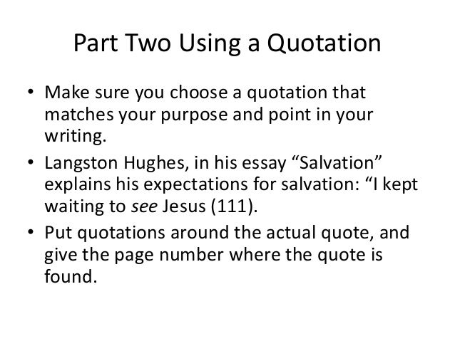 essay on langston hughes salvation Salvation essays in langston hughes' essay salvation, langston talks about the first time he is going to be saved from sin langston is a.