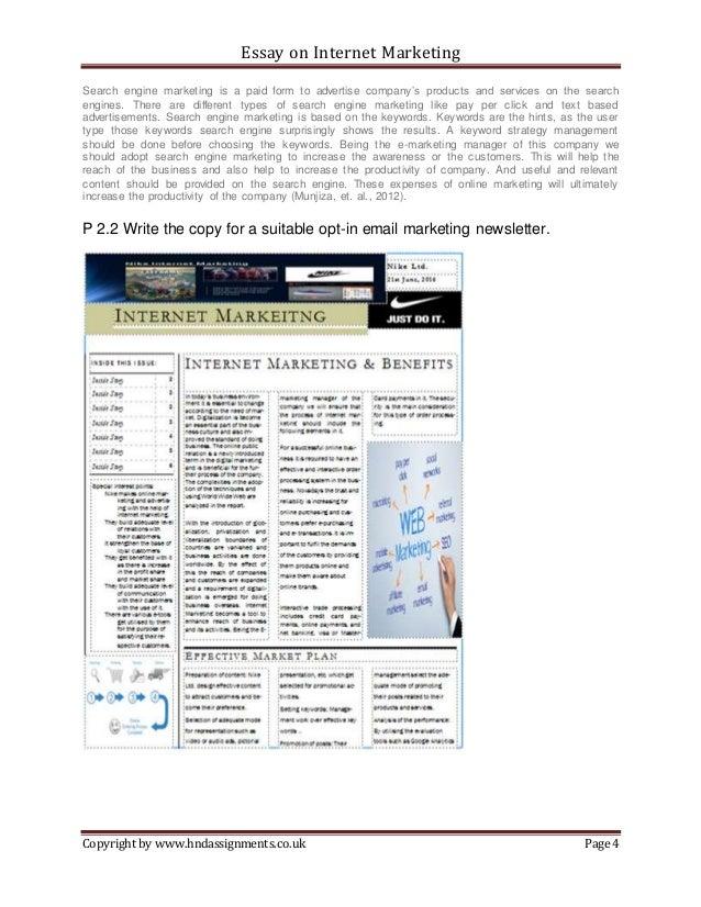 Cyber marketing essay