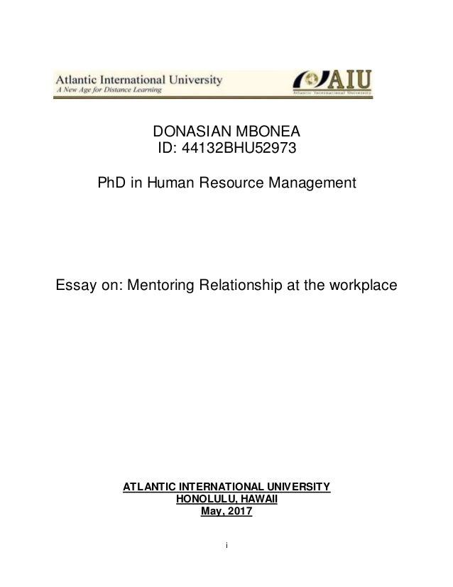 essay on mentorship aiufinal
