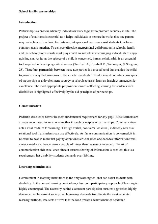 Partnership essay