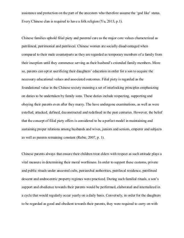 essay on sociology chinese traditional family ritual consequently they receive 2 assistance