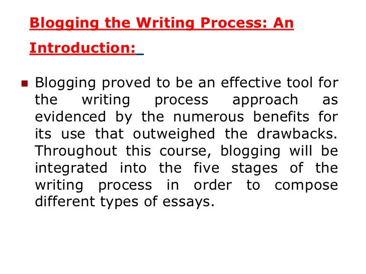 the essay writing process 4 blogging the writing process