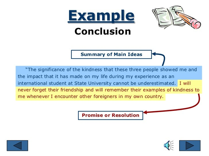 example conclusion - Example Of A Conclusion For An Essay