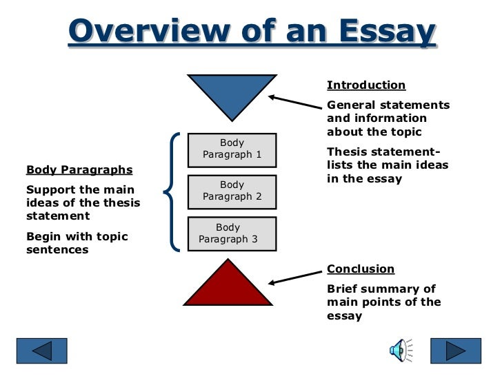 parts of an essay  3 overview of an essay introduction general