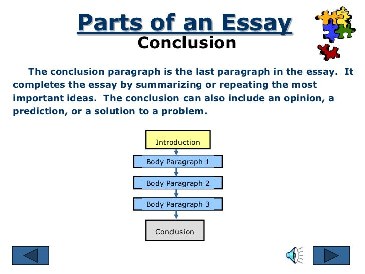 parts essay introduction conclusion How to write better introductions and conclusions to be discussed in the body of the essay the introduction the conclusion occurs in the following 3 parts.