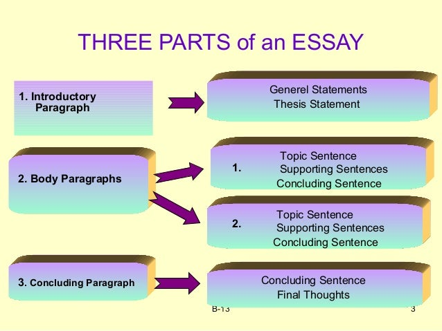 Parts of an essay definitions