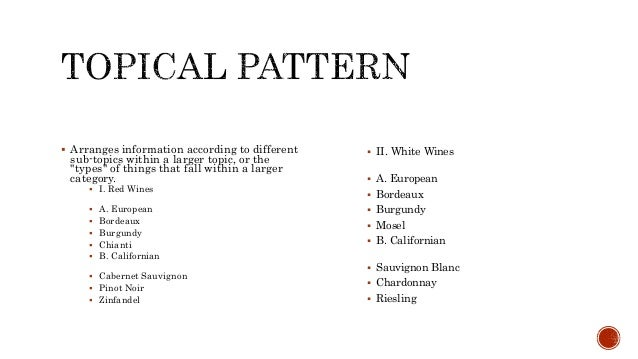 essay organization patterns