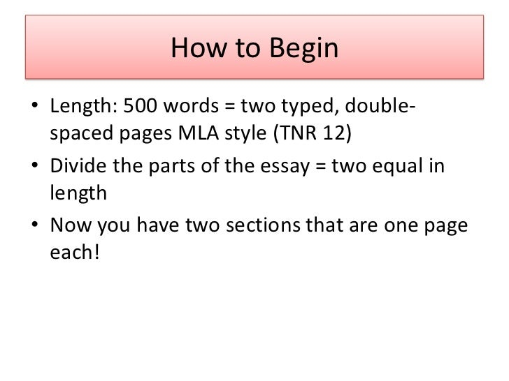 500 word essay pages