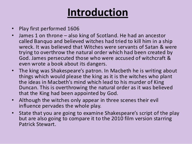 essay plan for macbeth introduction•