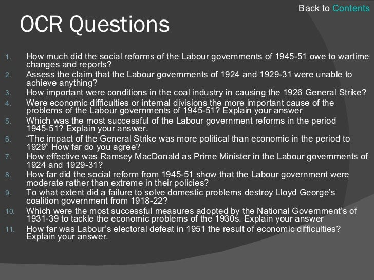Effectiveness of the Labour social welfare reforms, 1945–51