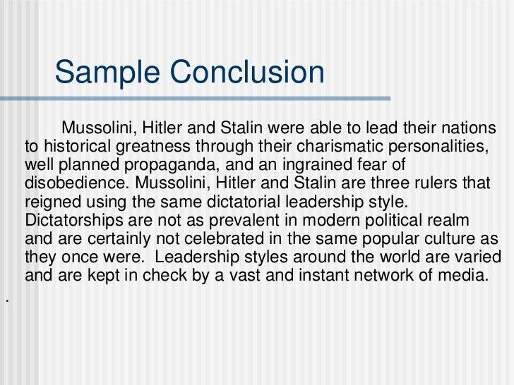 adolf hitler essay conclusion