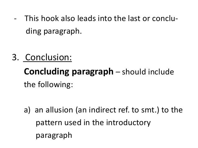 what should be in a conclusion paragraph