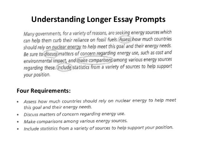 understanding essay prompts taking a position and asking research q  understanding longer essay prompts four requirements