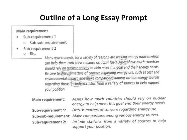 Essay promts