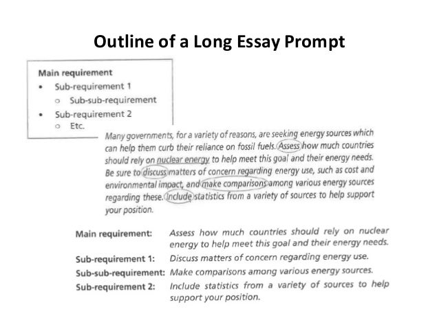 Essay writing prompt