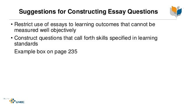 essay question construction  16 suggestions for constructing essay questions