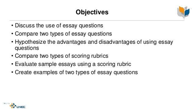Essay question construction
