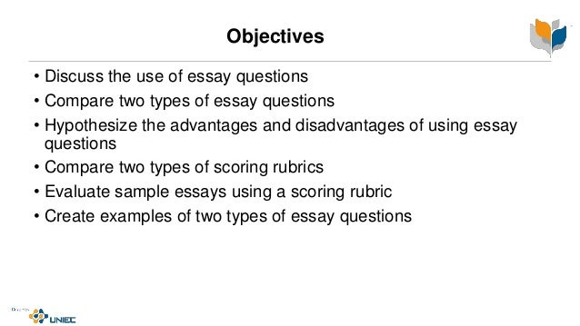 uses of essay questions Should increase the reader's understanding of the topic or idea  words which are often used in essay questions knowing what these words mean will assist you in.