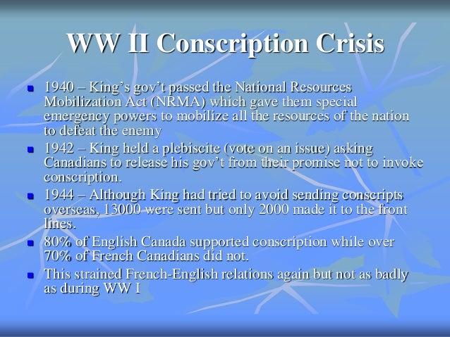 essay review 10 ww ii conscription