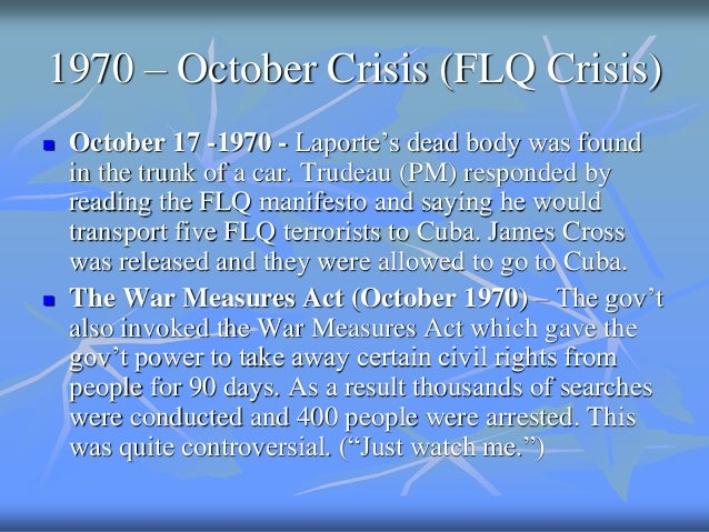 october crisis thesis