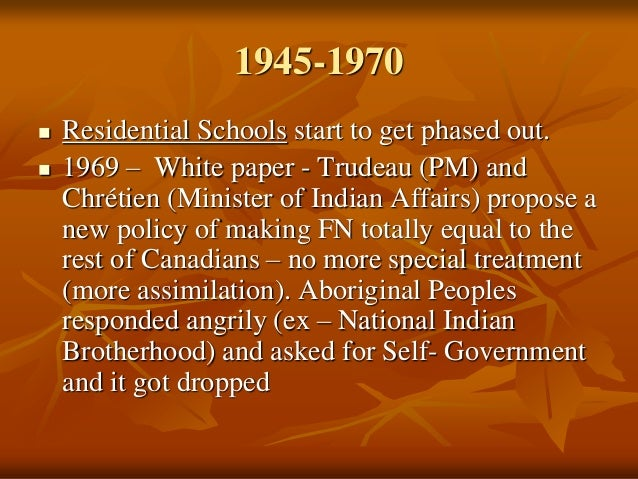 Essay: Should There Be Aboriginal Self-Government in Canada/United States of America?