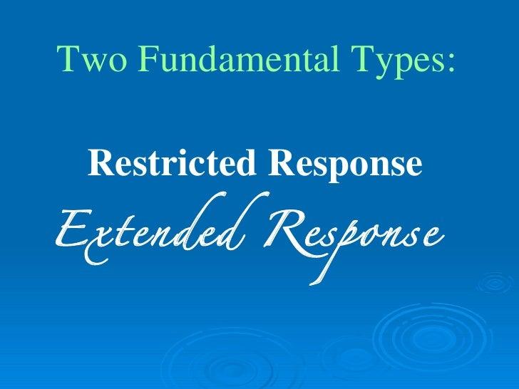 restricted response essays