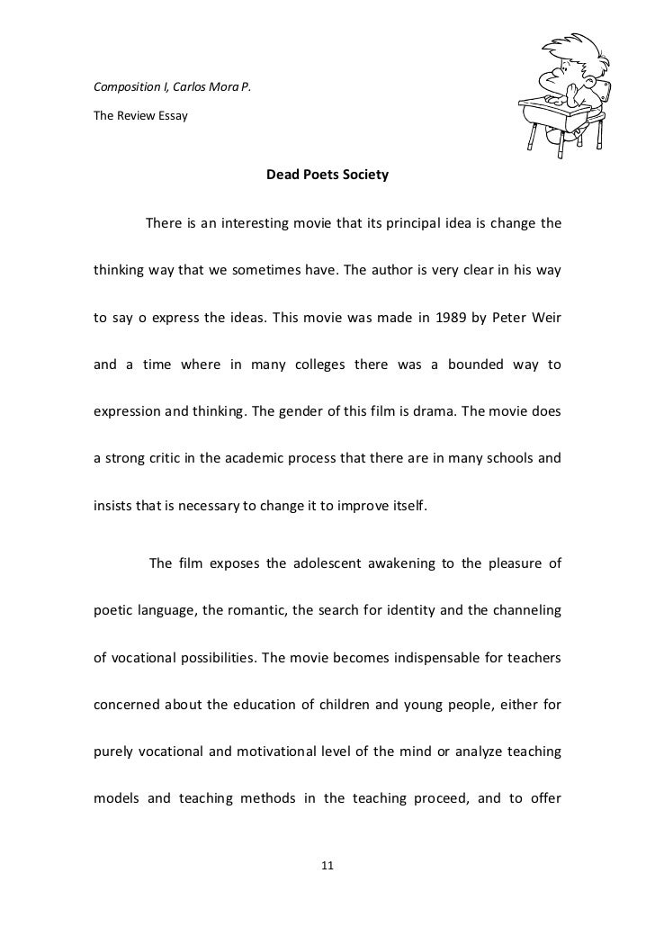 dead poets society film review essay The essay is about transcendental themes in the movie dead poets society essay the essay is about transcendental themes in the film review and analysis essays.