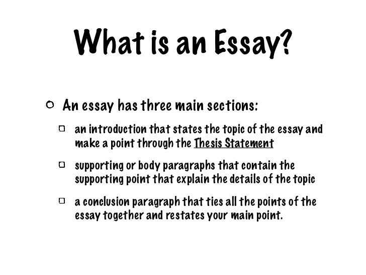 what is point by point thesis 3 how big is the thesis statement the thesis is essential because it maps the form and the substance of the essay without a thesis, an essay drifts into a series.