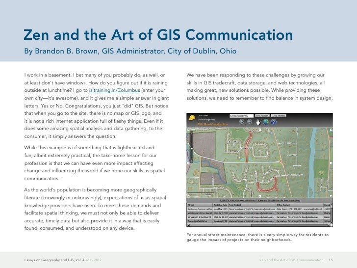 Essays On Geography And Gis Vol 4