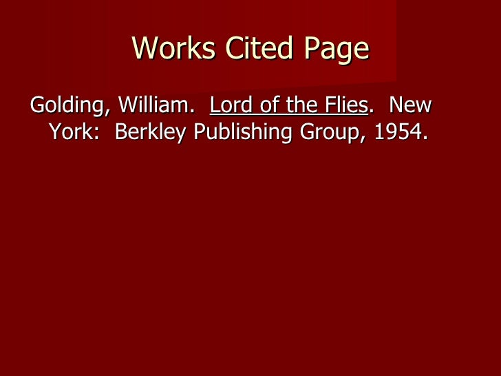 essays lord of the flies
