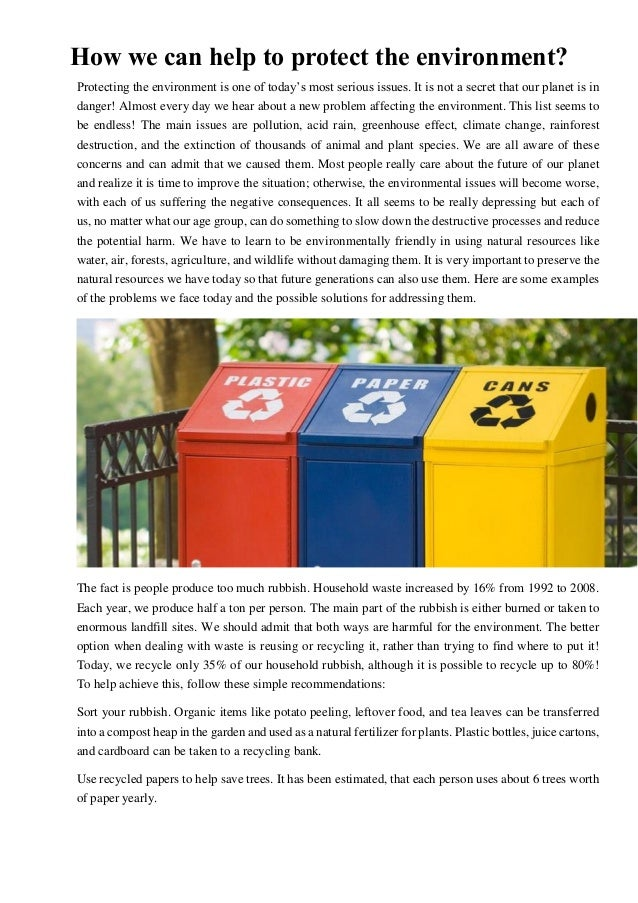 essay sample how we can help to protect the environment