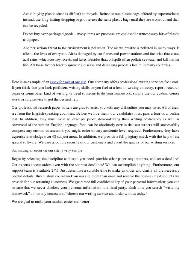 Essay on how to help the environment
