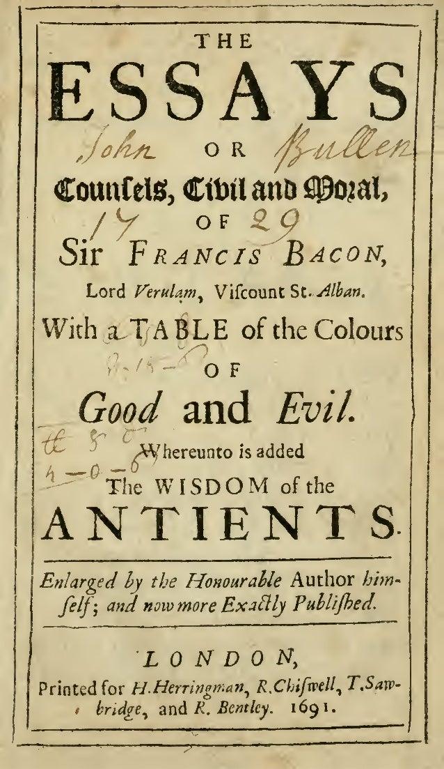 Francis Bacon (1561—1626)