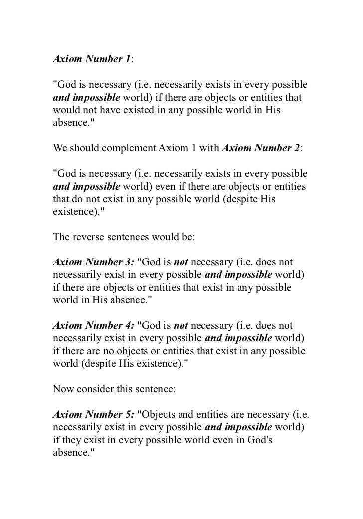 essays on god and freud  14 axiom number 1 god is
