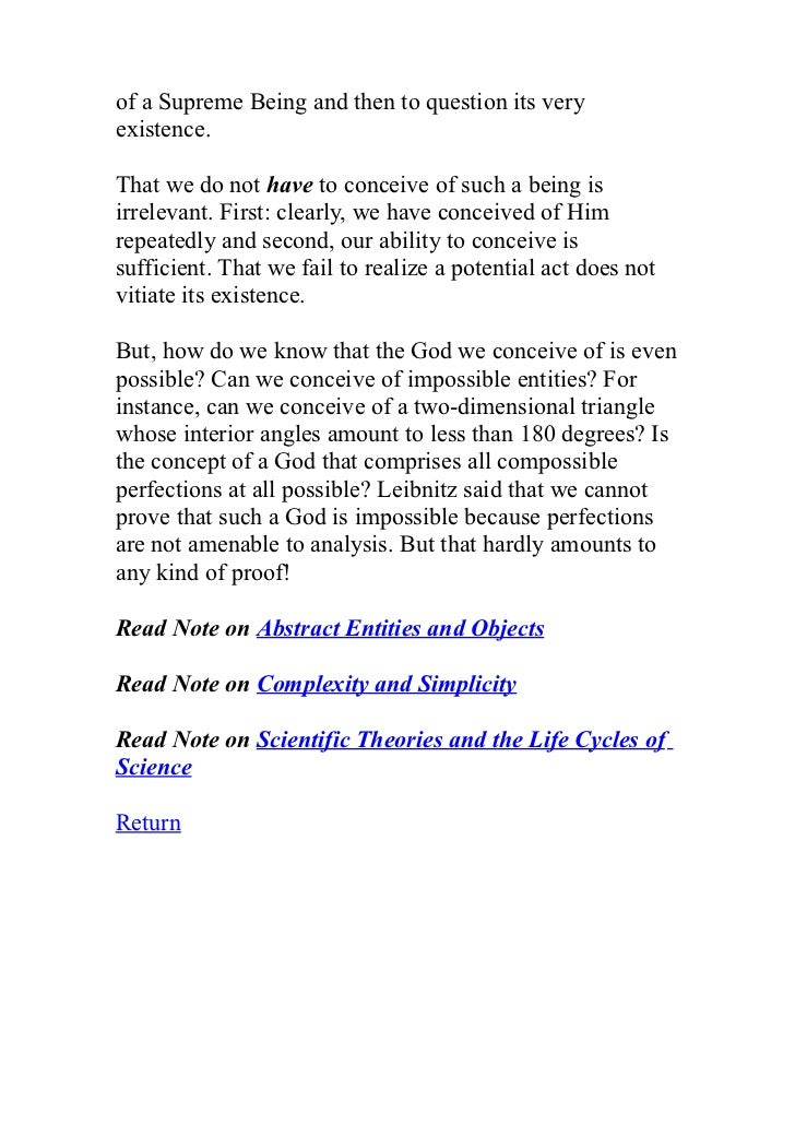a religious essay on the existence of god Free essay: 1 examine the strengths and weaknesses of the argument for the existence of god based on religious experience (18) 2 'the argument merely.