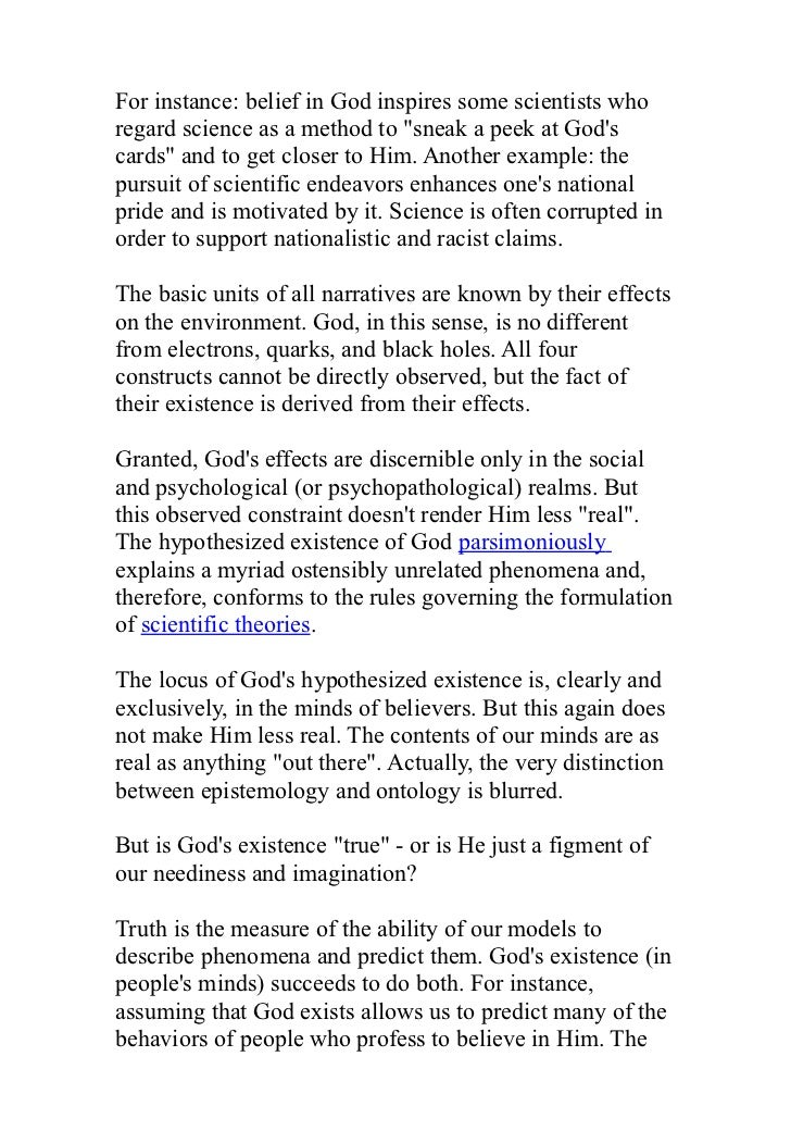 does god exist essay conclusion Open document below is an essay on does god exist from anti essays, your source for research papers, essays, and term paper examples.