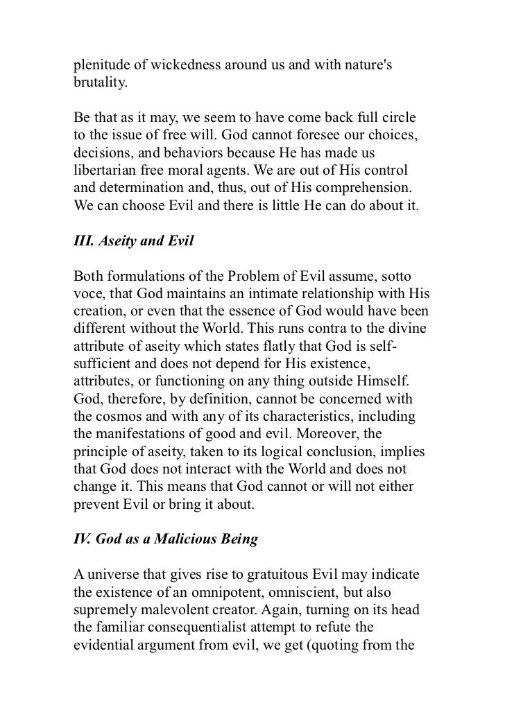 essays on god and freud  66 plenitude