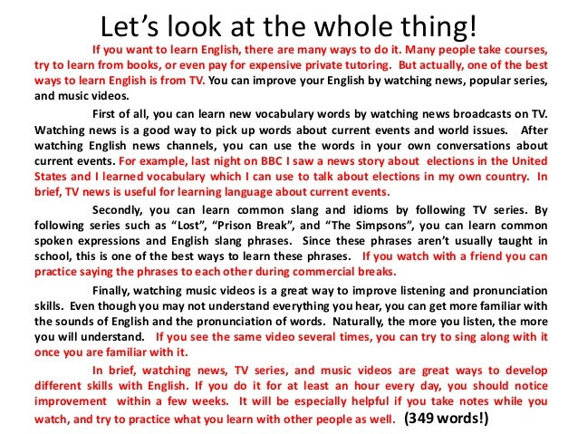 Etonnant An Opinion Essay. Why You Need To Learn English ...