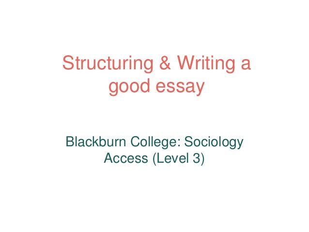 How to Write a Sociology Essay